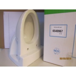TOILET BOWL,EVAC 900/910 WITH FLUSHRING,WALL,WHITE