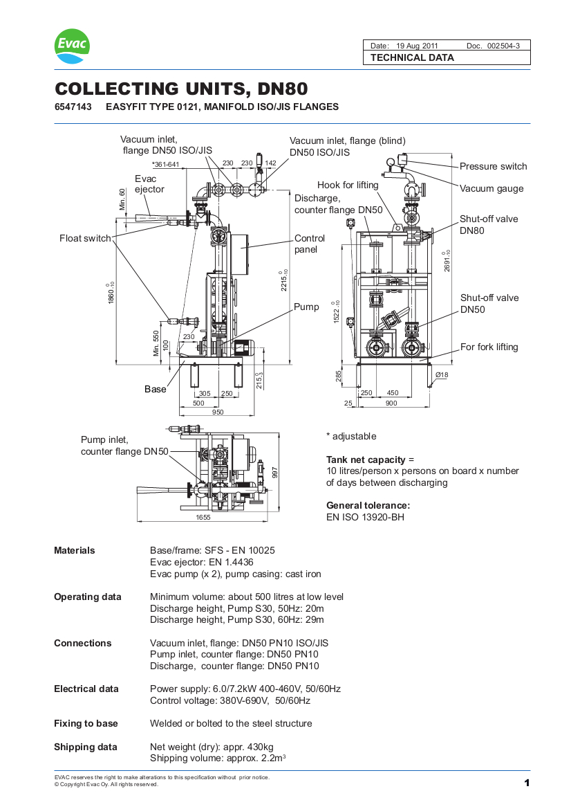 Evac Injector Units Marinevac