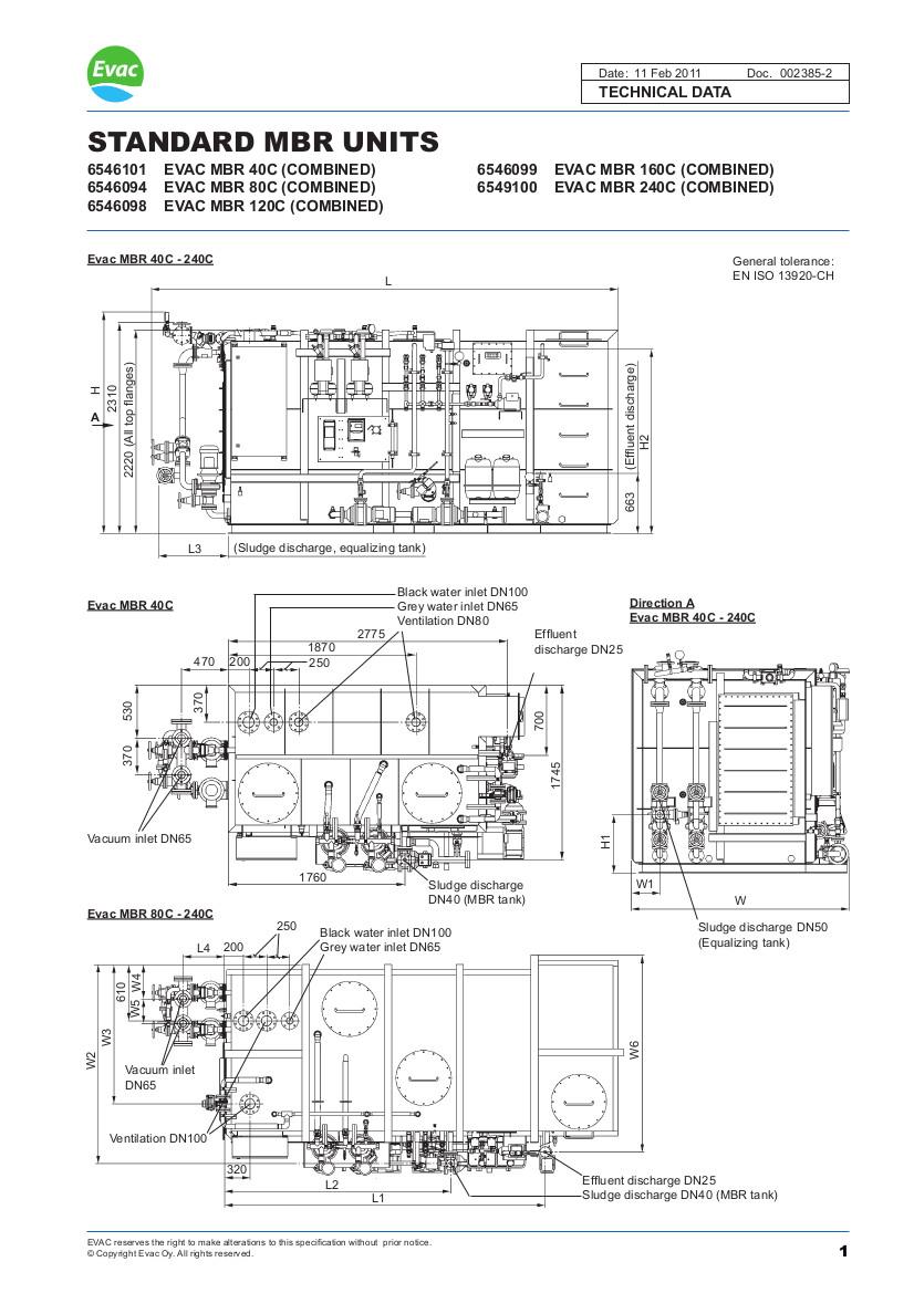 EVAC Standard MBR Units 40c